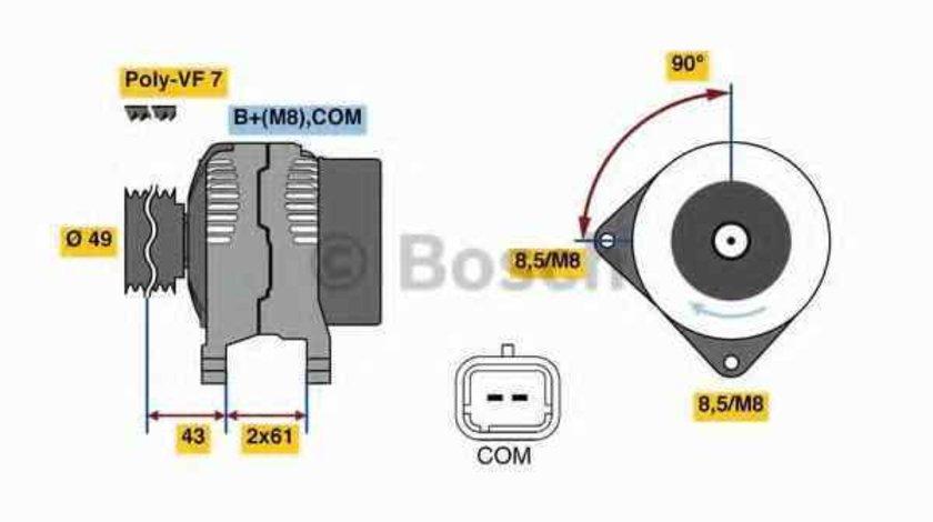 Generator / Alternator RENAULT LAGUNA II BG0/1 BOSCH 0 986 080 420