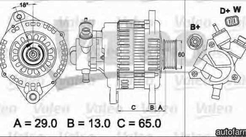 Generator / Alternator VAUXHALL ASTRA Mk IV G hatchback VALEO 437497