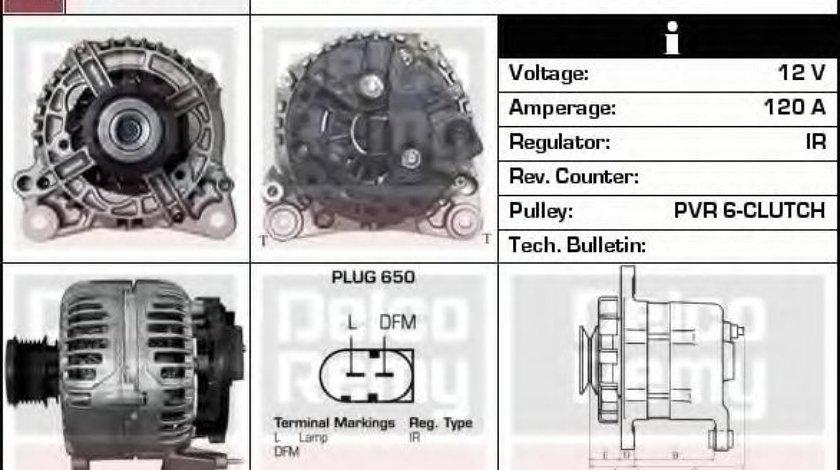 Generator / Alternator VW GOLF IV (1J1) (1997 - 2005) DELCO REMY DRB1860 produs NOU