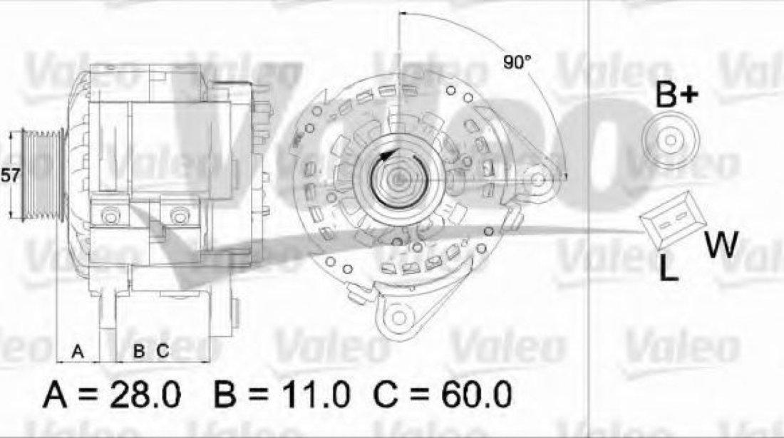 Generator / Alternator VW NEW BEETLE (9C1, 1C1) (1998 - 2010) VALEO 437477 - produs NOU