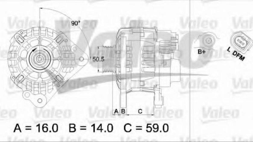 Generator / Alternator VW POLO (6R, 6C) (2009 - 2016) VALEO 437444 piesa NOUA