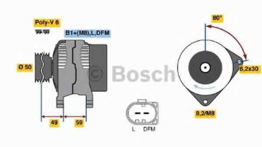 Generator / Alternator VW POLO 6R 6C BOSCH 0 986 042 620