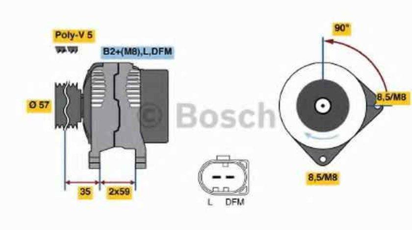 Generator / Alternator VW POLO 9N BOSCH 0 986 049 101