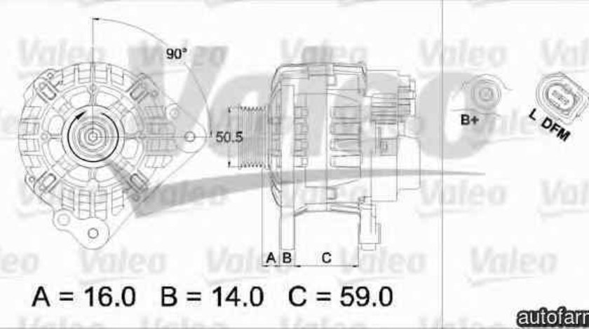 Generator / Alternator VW POLO 9N VALEO 437444