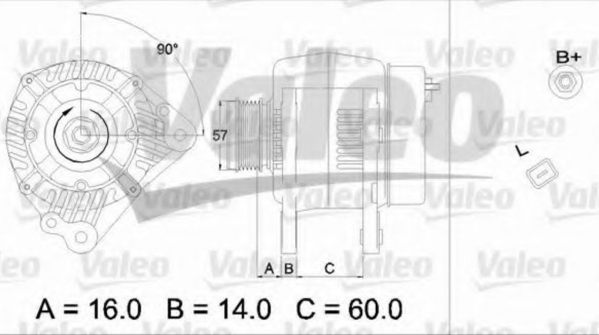 Generator / Alternator VW TRANSPORTER V bus (7HB, 7HJ, 7EB, 7EJ, 7EF, 7EG, 7HF, 7EC) (2003 - 2016) VALEO 437341 piesa NOUA
