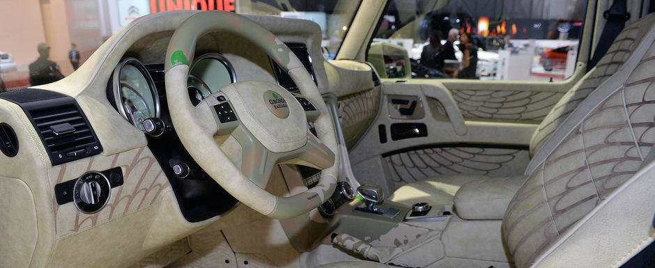 Geneva 2015: Mansory G63 Sahara are 828 CP si o pasiune pentru camuflaj