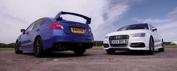 Germania vs Japonia: Noul S3 Sedan, fata in fata cu ultimul WRX STI. Cine castiga?