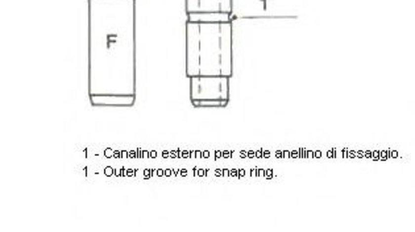 Ghid supapa OPEL MOVANO caroserie (F9) (1999 - 2010) METELLI 01-2585 piesa NOUA