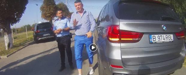 Ghiolbanul turmentat: consilierul unui deputat PSD injura si ii arata legitimatia politistului de la circulatie