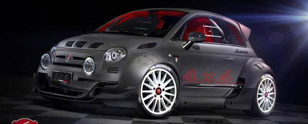 Giannini continua seria Fiat-urilor 500 extreme. Cea mai noua creatie are tot 350 de cai, dar tractiune integrala