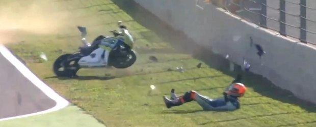 Gino Rea, motociclistul norocos care a scapat cu bine dintr-un accident destul de grav