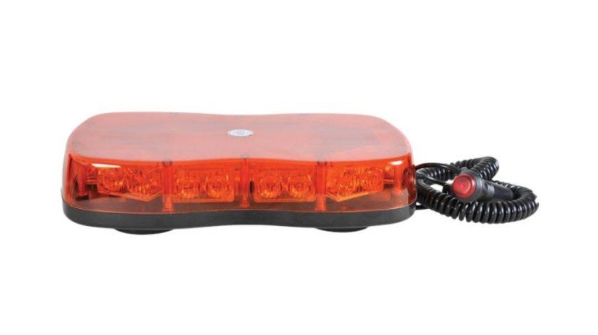 Girofar auto Automax 12V/ 24V, cu LED-uri , fixare magnetica, Orange