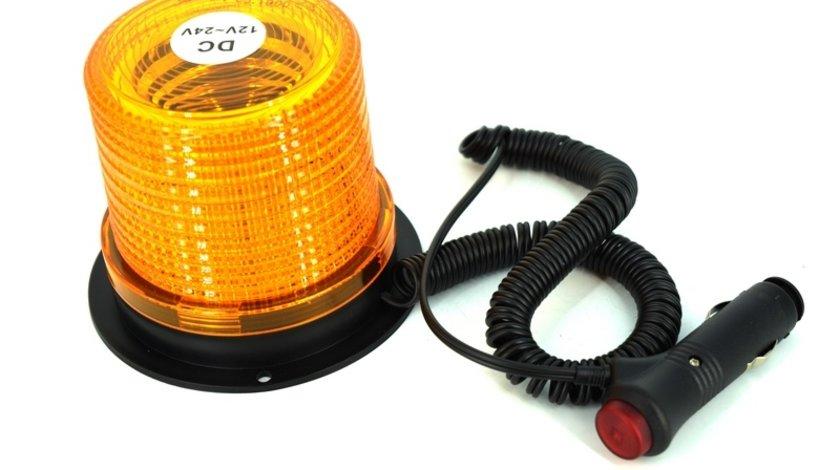 Girofar portocaliu omologat U.E.cu 30 SMD IP65 12-24V