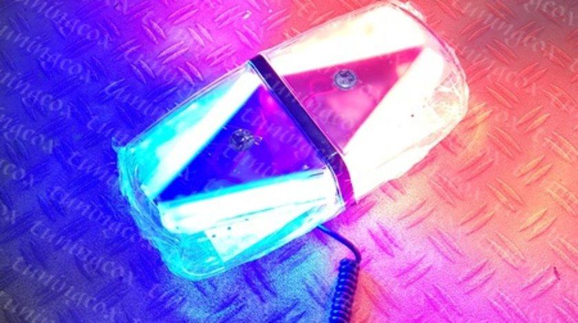 Girofar rosu albastru cu sticla clara