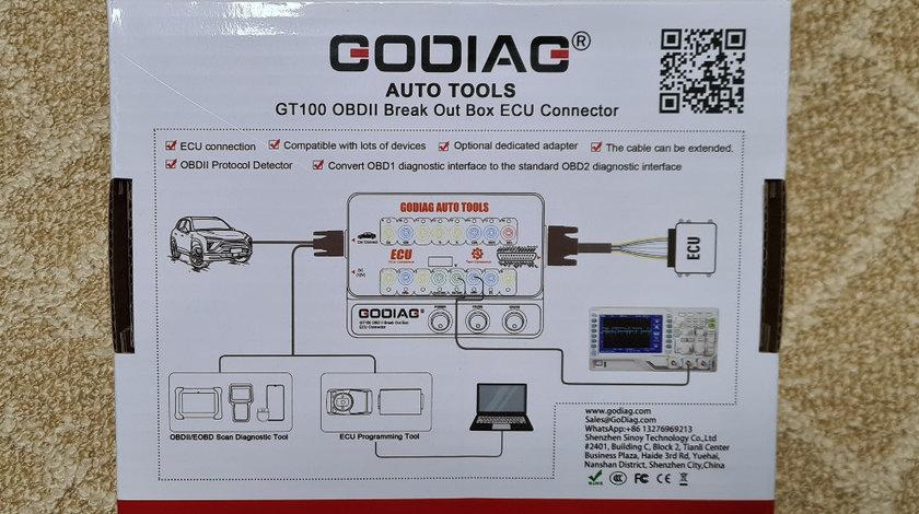 GODIAG GT100 AUTO TOOLS OBD II Break Out Box ECU Connector