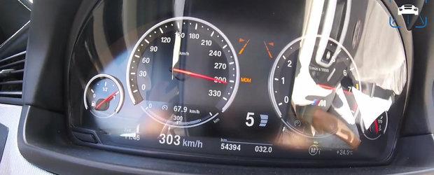 Goneste cu peste 300 km/h pe drumurile publice intr-un BMW M5 cu 800 CP sub capota. VIDEO interzis cardiacilor