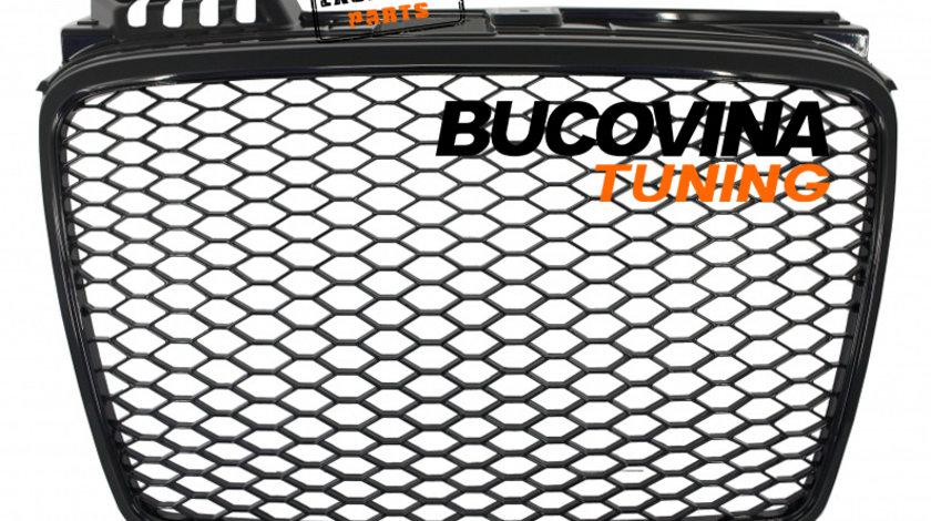 GRILA AUDI A4 B7 (04-08) RS4 DESIGN NEGRU-LUCIOS