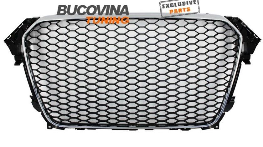 GRILA AUDI A4 B8.5 RS DESIGN (12-15) NEGRU-CROM