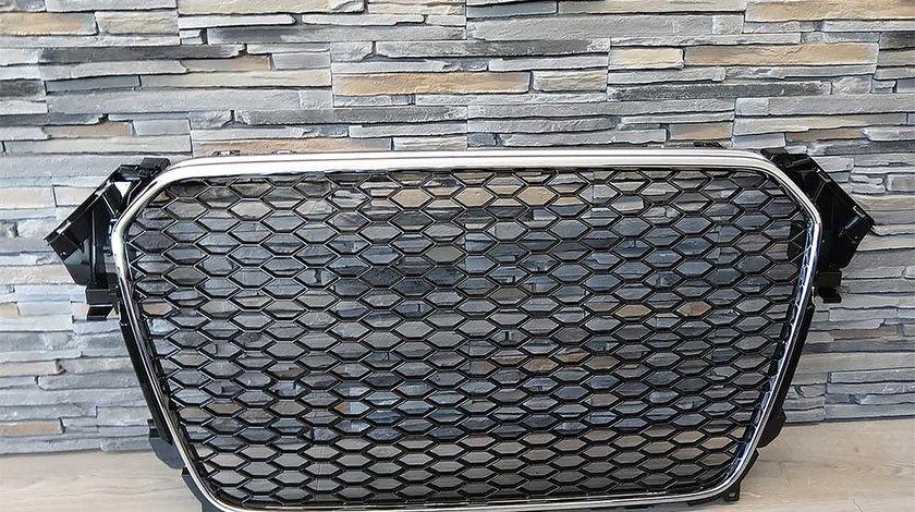 Grila Audi A5 8T Facelift (12-15) RS Design Negru Crom