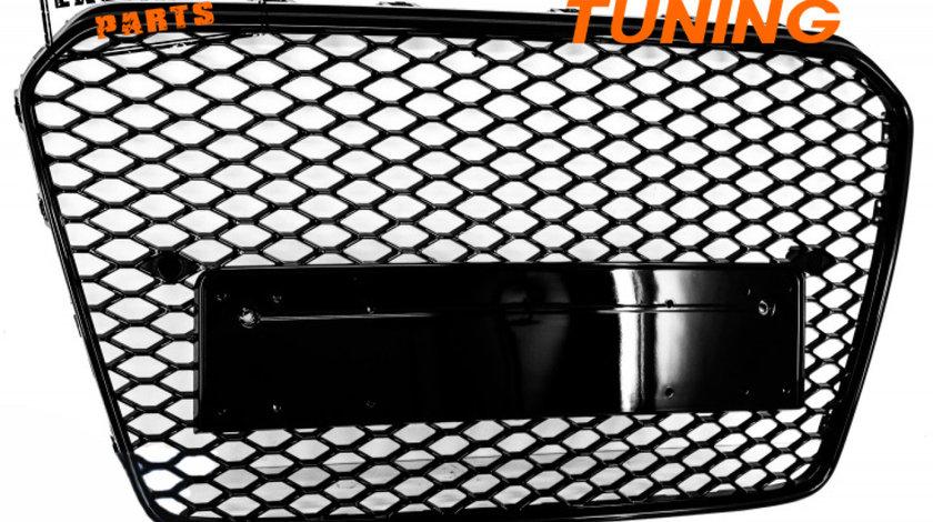 GRILA AUDI A5 8T FACELIFT RS DESIGN (12-15) NEGRU LUCIOS