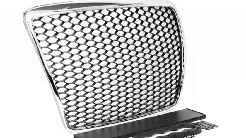 Grila Audi A6 4F C6 (04-11) Negru-Crom RS Design