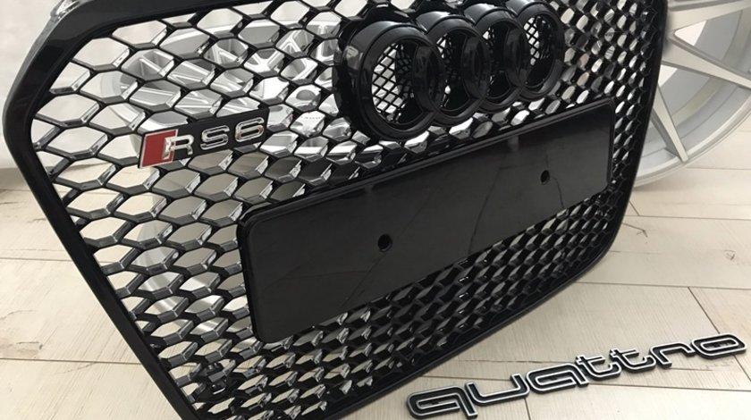 Grila AUDI A6 4G C72011-2014 model RS6 crom sau neagra