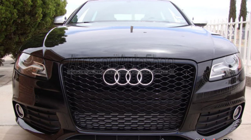 Grila Audi RS4 A4 B8 2008-2012 - FULL BLACK