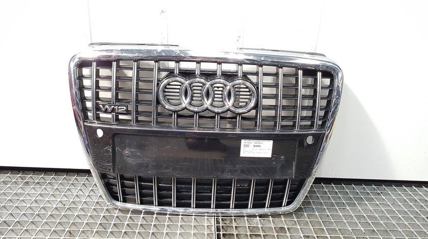 Grila bara fata centrala cu sigla, Audi A8 (4E) cod 4E0853651AL (id:364895)