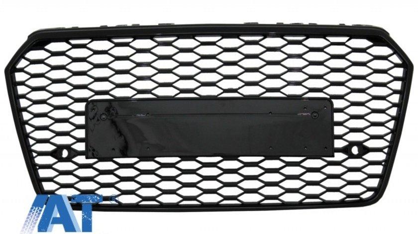 Grila Bara Fata compatibil cu AUDI A7 4G Facelift (2015-2017) RS7 Design Negru Lucios