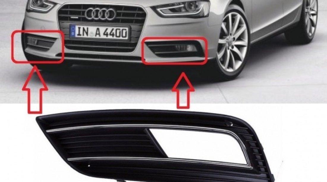Grila Bara Fata Stanga Am Audi A4 B8 2012-2015 8K0807681K01C Crom