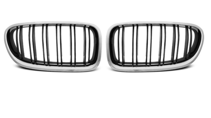 Grila BMW F10 / F11 2010-2016 M5-Look linii Cromate Negru Lucios