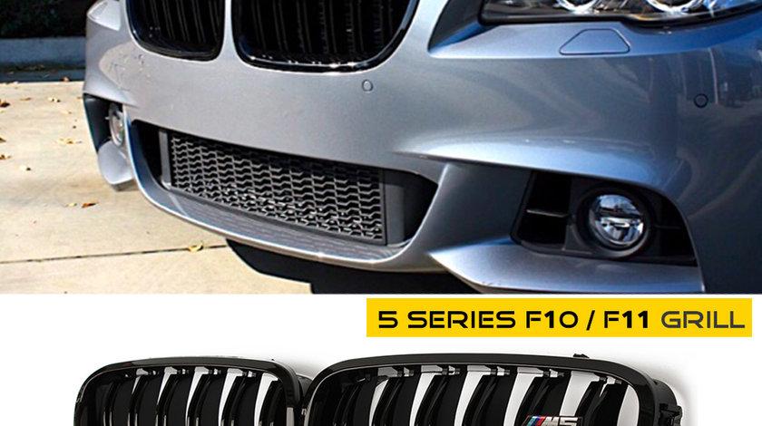 Grila BMW F10 Negru Lucios M5 cu emblema - PROMO 219 RON SET