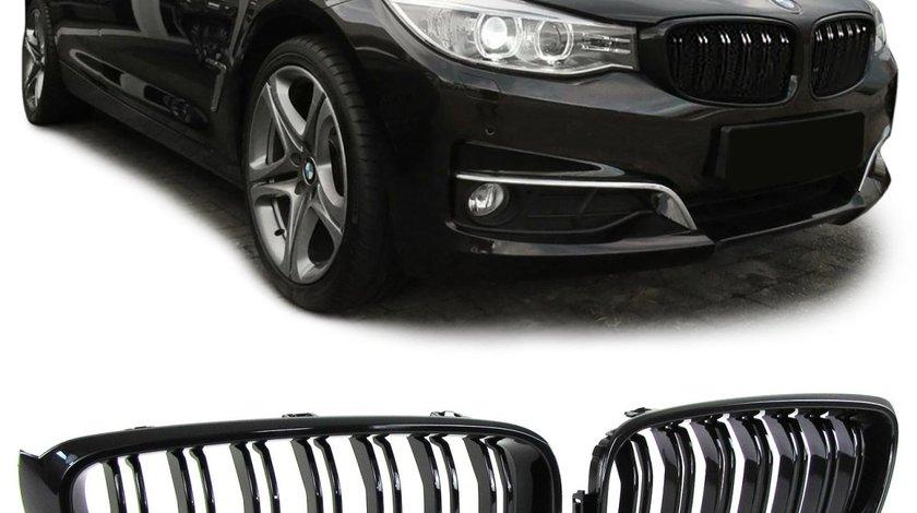 Grila BMW F34 GT dupa 2013- Dublu Negru Lucios