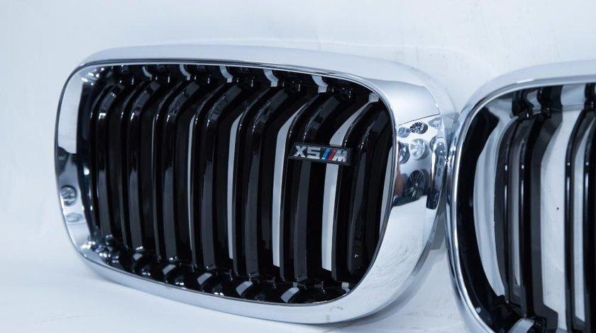 Grila BMW X5 X6 F15 F16 F85 F86 Negru licios si chrome