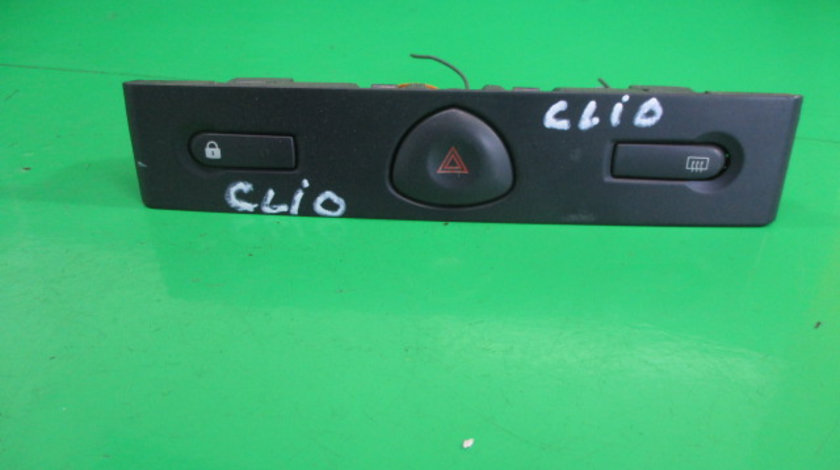 GRILA BUTON / BUTOANE AVARIE / DEZABURIRE / BLOCARE USI RENAULT CLIO 2 FAB. 1998 - 2005 ⭐⭐⭐⭐⭐