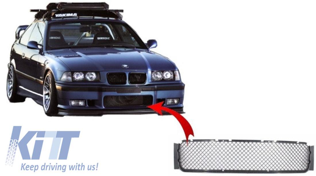 Grila Central-Inferioara Bara Fata BMW E36 Seria 3 (1992-1998) M3 Design KTX2-FBGBME36M3