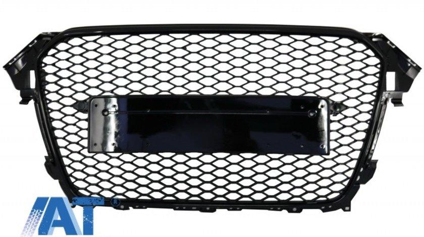 Grila Centrala compatibil cu AUDI A4 B8 Facelift (2012-2015) RS Design Negru Lucios