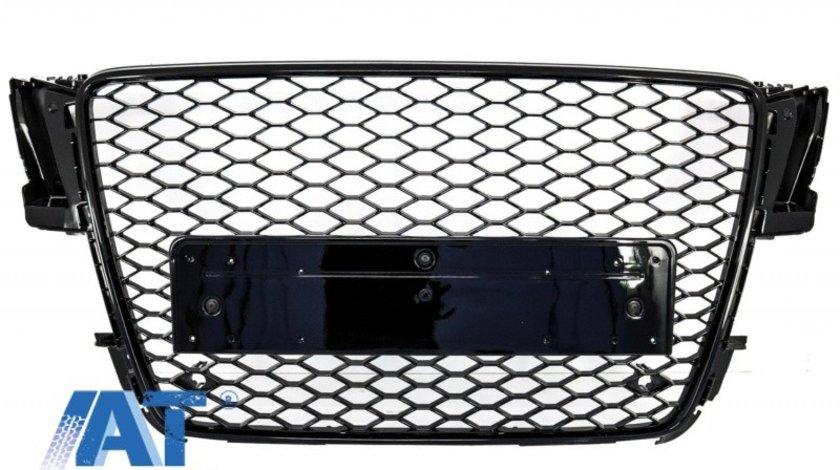 Grila Centrala compatibil cu AUDI A5 8T (2008-2011) RS5 Design Negru Lucios