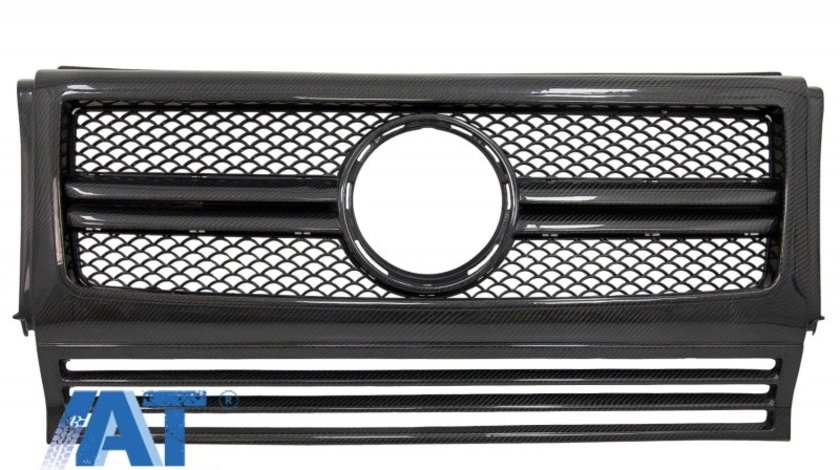 Grila Centrala compatibil cu MERCEDES W463 G-Class (1990-2014) G65 Design Carbon Real Edition