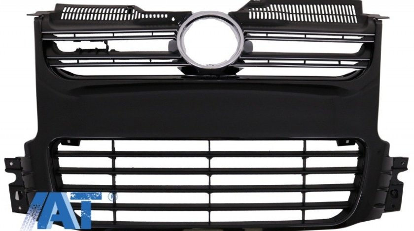 Grila Centrala compatibil cu VW Golf 5 V (2003-2008) Negru R32 Design