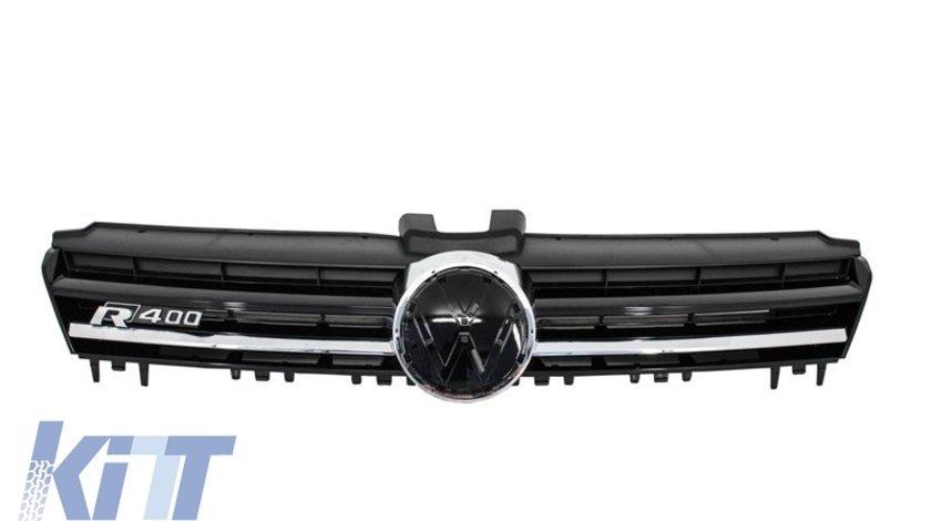 Grila Centrala Volkswagen Golf VII (5G) (2012-up) R400 Design Silver
