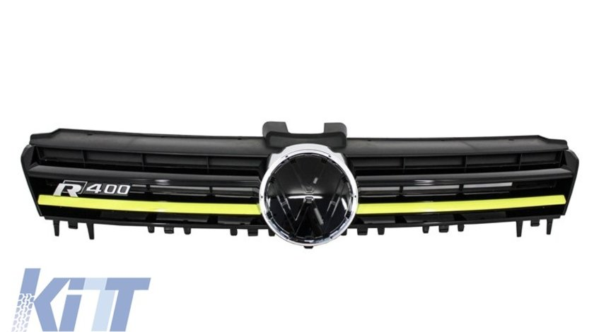Grila Centrala Volkswagen Golf VII (5G) (2012-up) R400 Design Yellow