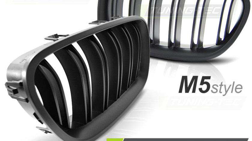 Grila dubla BMW F10 / F11 intre 2010 - 2016 model M5 negru Mat