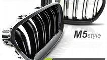 Grila dubla BMW F10 / F11 M5-LOOK NEGRU LUCIOS