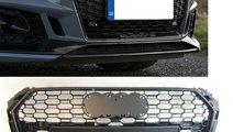Grila fagure AUDI A4 S4 B9 2015-2019 RS STYLE negr...