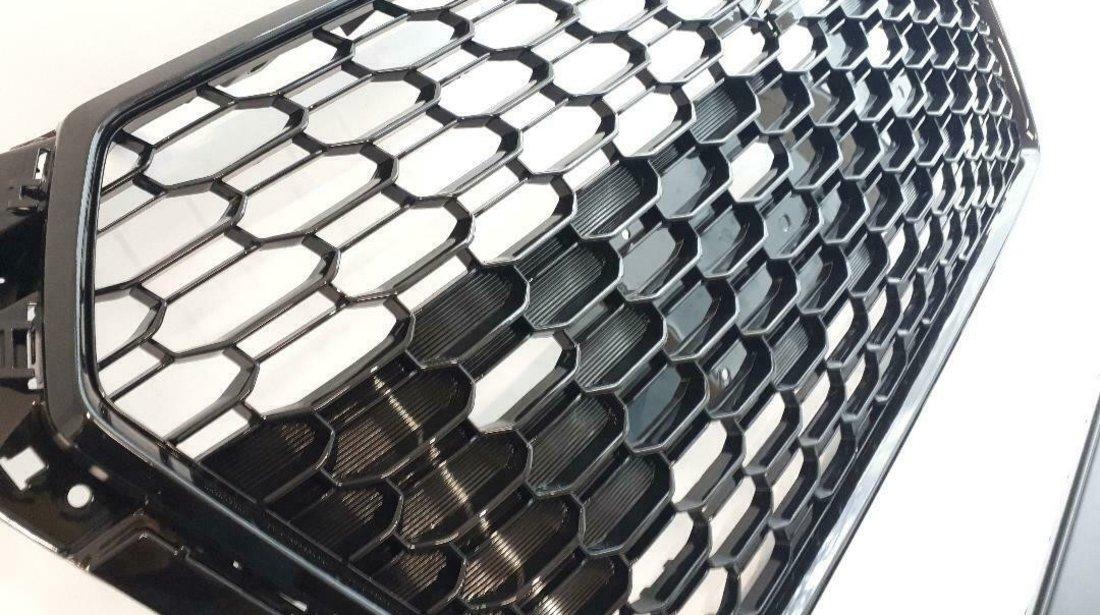 Grila fagure AUDI A4 S4 B9 2015-2019 RS STYLE negru lucios