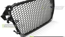 Grila fagure RS AUDI A4 B8 Facelift 11.11-15 negru...