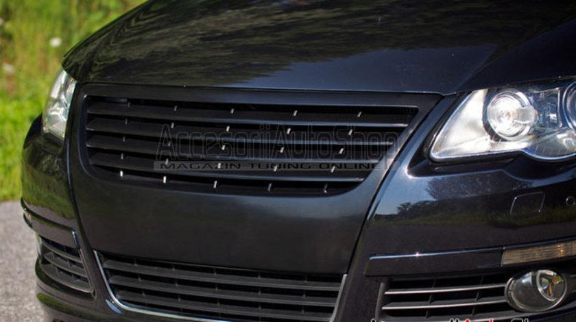 Grila fara semn VW Passat B6 3C 2005-2009 - Negru Mat