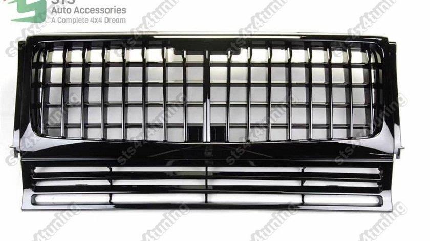 GRILA FATA BADGELESS MERCEDES G-CLASS W463 1986-2017 BK [GTR VERTICAL STYLE]
