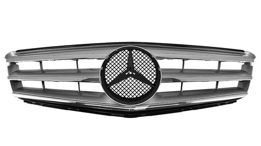 Grila Mercedes Benz C-Class W204 (07-14) AMG Silver Crom Design